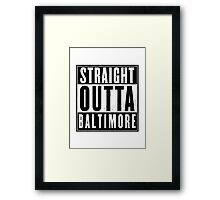 The wire - Baltimore Framed Print