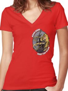 MDNA (crest) Women's Fitted V-Neck T-Shirt