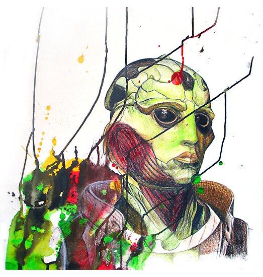 Thane Krios Mass Effect Portrait by quigalchemist