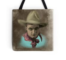 Vintage Cowboy Illustration Tote Bag