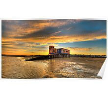 Lifeboat Station Sunset Poster