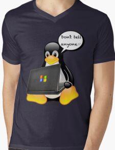 Don't tell anyone Mens V-Neck T-Shirt