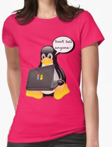 Don't tell anyone Womens Fitted T-Shirt