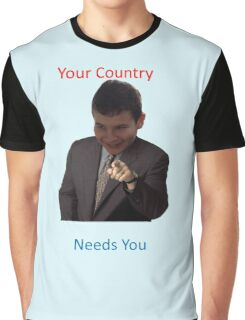 Your Country Needs You Phillip Style Graphic T-Shirt
