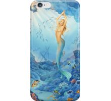 """Coral"", Mermaid, Fish and Shipwreck iPhone Case/Skin"