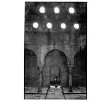 granada, spain-blach and white film Photographic Print
