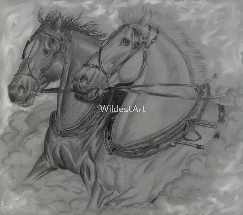Work Horses by WildestArt