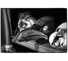 dream of papier-mâché -mask. black and white film Photographic Print
