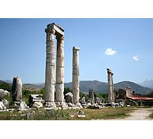 Ionic Columns of The Temple of Aphrodite Photographic Print