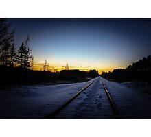 Sundown Tracks Photographic Print