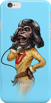 Monk Jagger iphone case by ChetArt