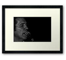 Jimmy Beat in concert 2 Framed Print