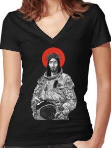 Astro Jesus Women's Fitted V-Neck T-Shirt