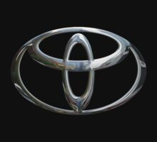 Toyota Logo in Silver Chrome by Chromed