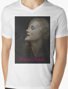 Silent Actress Mens V-Neck T-Shirt
