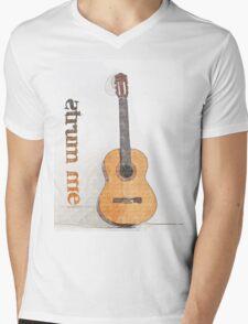 Strum Me Mens V-Neck T-Shirt