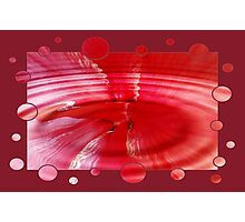 Bubble Red Photographic Print