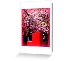 Red & Pink Greeting Card