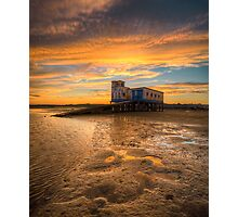 Lifeboat Station Sunset Photographic Print