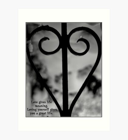 Love Give Live Meaning Art Print