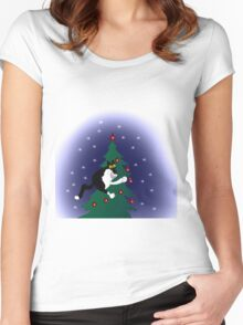 Xmas mischief: for the love of trees! Women's Fitted Scoop T-Shirt
