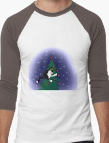 Xmas mischief: for the love of trees! Men's Baseball ¾ T-Shirt