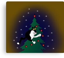 Xmas mischief: for the love of trees! Canvas Print