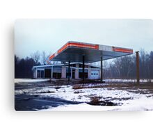 Dreary Day Gas Station Blues Metal Print