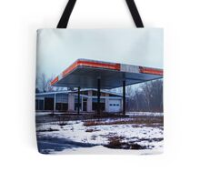Dreary Day Gas Station Blues Tote Bag