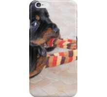 Three Rottweiler Puppies In A Tug Of War iPhone Case/Skin
