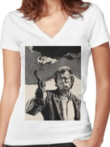 Clint Eastwood, Dirty Harry Women's Fitted V-Neck T-Shirt