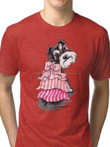Girly Schnauzer Tri-blend T-Shirt