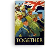 WWII Recruitment Poster Canvas Print