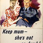 WWII Careless Talk Poster by chris-csfotobiz