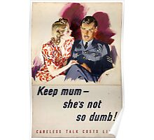 WWII Careless Talk Poster Poster