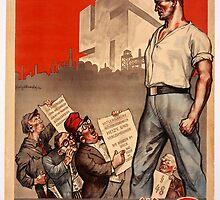 German Propaganda Poster by Chris L Smith