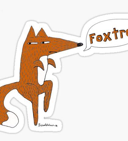 foxtrot Sticker