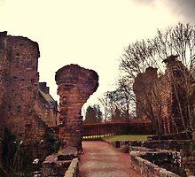 Rosslyn Castle, Midlothian, Scotland. by LBMcNicoll