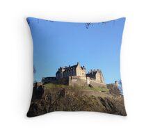 Edinburgh Castle from Princes Street.  Throw Pillow