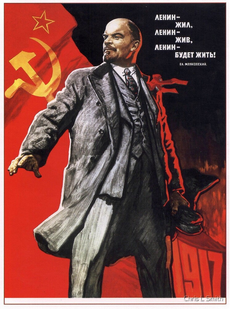 Old Soviet Lenin Poster by Chris L Smith