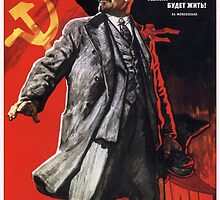 Old Soviet Lenin Poster by chris-csfotobiz