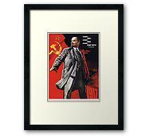 Old Soviet Lenin Poster Framed Print