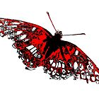 Butterfly - Black White And Red Series by Betty Northcutt