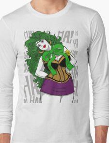 BBW Clown in Corset Long Sleeve T-Shirt