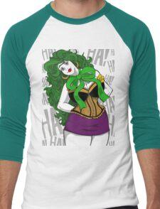 BBW Clown in Corset Men's Baseball ¾ T-Shirt