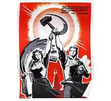 Old Soviet Poster Poster