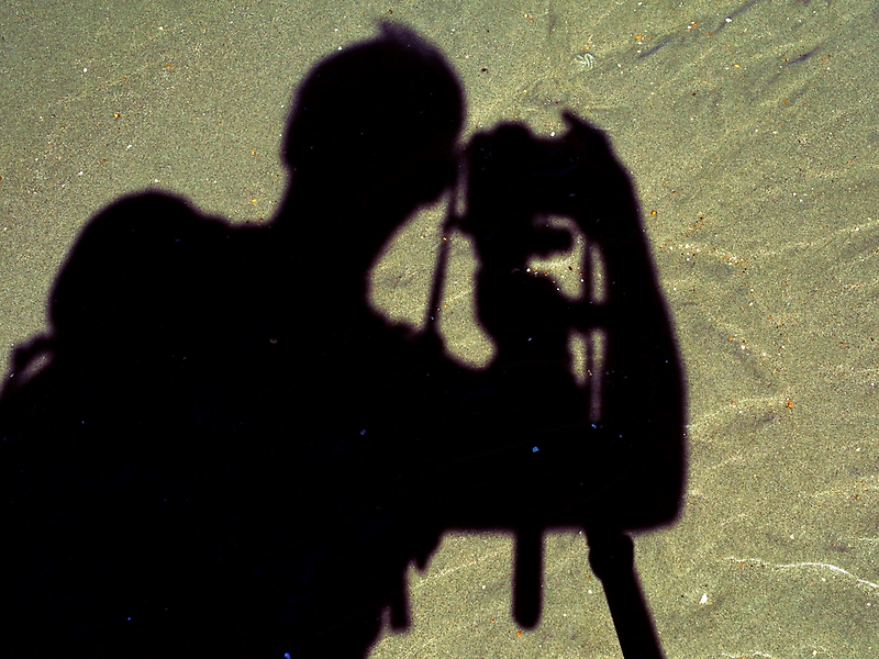 Self portrait on beach by Steve