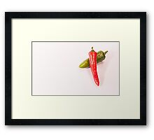 Hot Chillies Framed Print