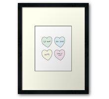 Sassy Hearts Framed Print