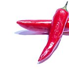 Red Hot Chillies by Michael Hollinshead